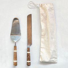 Cake And Knife Serving Set