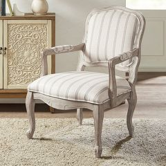 Upholstered Wood Upscale Armchair