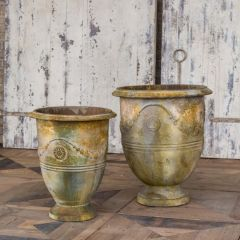 French Country Urn Planter Set of 2