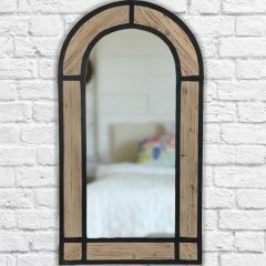Rustic Industrial Arched Wall Mirror