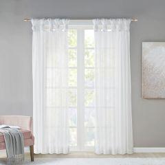 Sheer Twist Tab Curtain Panels Set of 2