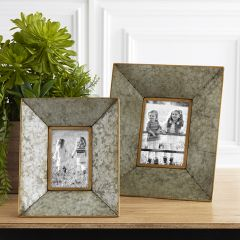 Country Chic Tin Photo Frames Set of 2