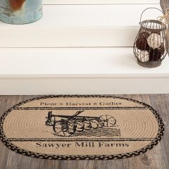 Sawyer Mill Farms Oval Jute Accent Rug