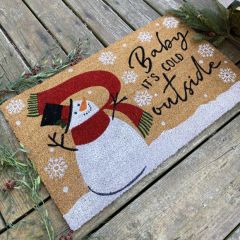 Baby It's Cold Outside Coir Doormat