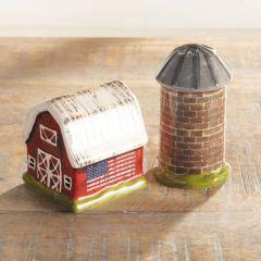 Barn Silo Salt and Pepper Shaker Set