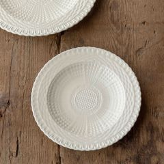 Basketweave Texture Creamware Luncheon Plate