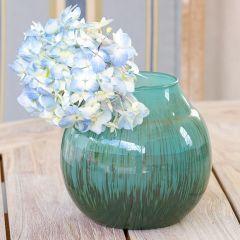 Round Glass Bright Vase