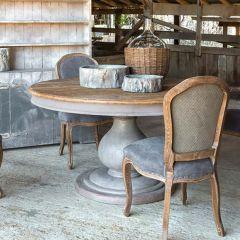 Round Farmhouse Foyer Table