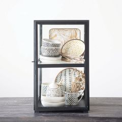 Metal With Glass Display Cabinet
