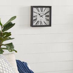 Distressed Metal Square Wall Clock
