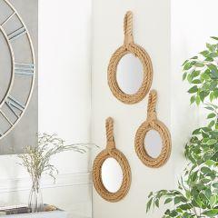 Rope Framed Mirror Set of 3
