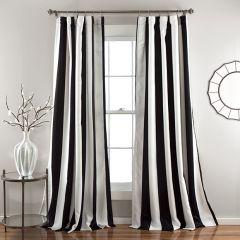 Classic Grace Stripe Curtain Panel Set of 2