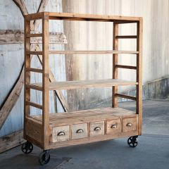 Rolling Factory Style Shelves