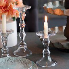 Elegant Curves Glass Candle Holder