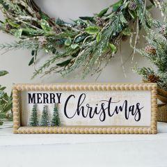 Beaded Edge MERRY CHRISTMAS Tabletop Sign