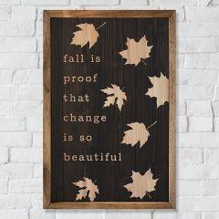 Beautiful Change Fall Wall Decor