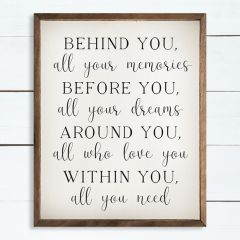 Behind You Before You Around You Within You White Wall Art