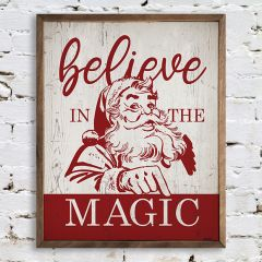 Believe In The Magic Retro Holiday Wall Art