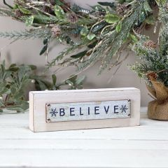 BELIEVE Wooden Table Sign Set of 2
