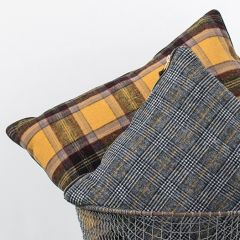 Wool Blend Plaid Throw Pillow