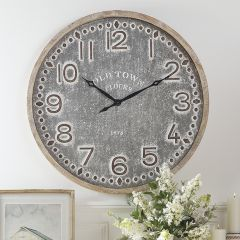 Old Town Rustic Iron Clock