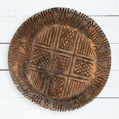 Carved Found Wood Bowl Wall Decor