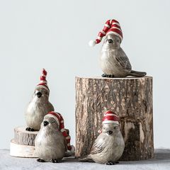Bird With Stocking Hat Set of 4