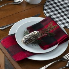 Black and Red Classic Buffalo Check Napkins Set of 4