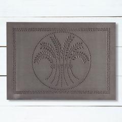 Blackened Tin Horizontal Wheat Wall Panel Decor