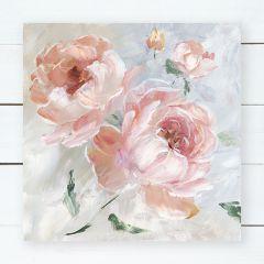 Blush Roses Canvas Wall Art