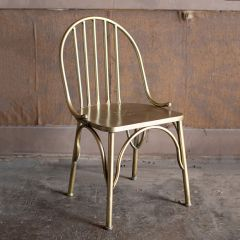 Brass Finished Antiqued Dining Chair