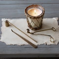 Brass Finished Candle Care Kit, 3 Piece Set