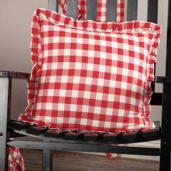 Bright Buffalo Check Square Pillow