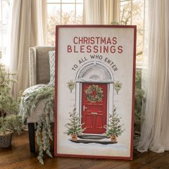 Bright Christmas Blessings Framed Wall Sign