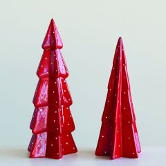 Bright Stoneware Tabletop Tree One of Each