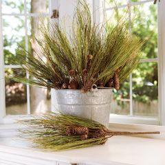Bristling Pine Spray With Pinecones Set of 3