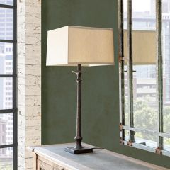 Bronze Finished Industrial Table Lamp