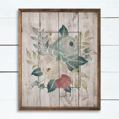 Brown and Green Floral Framed Wall Art