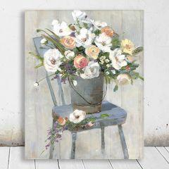 Bucket Bouquet Wall Art