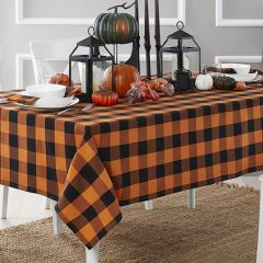 Buffalo Check Fall Farmhouse Tablecloth