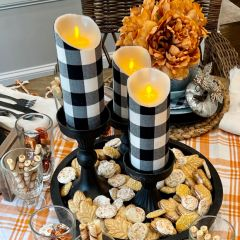 Buffalo Check Flameless Pillar Candle Set of 2