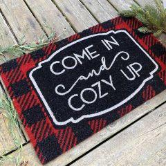 Buffalo Plaid Cozy Up Coir Doormat