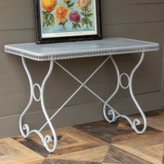 Detailed Edge Metal Console Table