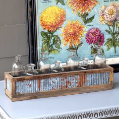 Tin Sided Bottle Vase Centerpiece