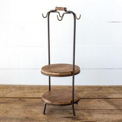 Dish and Cup Rustic Display Stand