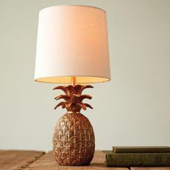 Gold Finished Pineapple Table Lamp