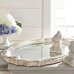 Farmhouse Mirror Tray With Handles