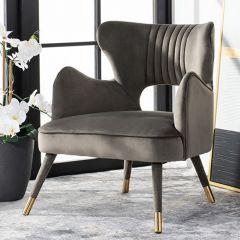 Contemporary Farmhouse Velvet Accent Chair