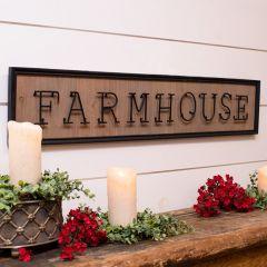 Framed Farmhouse Word Sign