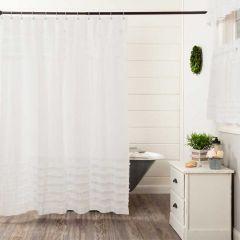 Ruffled Petticoat Shower Curtain